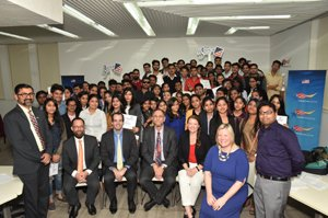 IIMMIians at American center for a workshop
