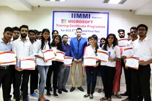 IIMMIians attended training certificate programme from Microsoft